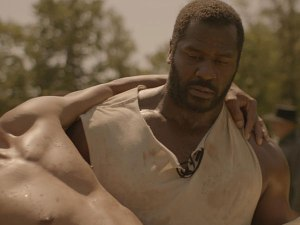 """The North Star"":  Jeremiah Trotter stars as Benjamin 'Big Ben' Jones, carrying John Wooten, playing Lewis Stone."