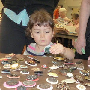 fall show second photo - Young button collector Elena Ibanez