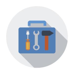 Tool box single icon.